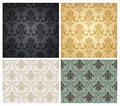 Damask pattern Stock Images