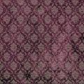 Damask Print Purple Royalty Free Stock Photo