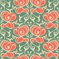 Damask seamless ornament traditional pattern Royalty Free Stock Photo