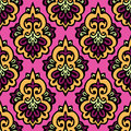 Damask seamless patter vector this is file of eps format Royalty Free Stock Photography