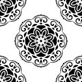 Damask seamless pattern abstract background oriental vector with arabesque and floral elements Stock Photography