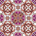 Damask seamless pattern background, moroccan colorful ornament. Royalty Free Stock Photo