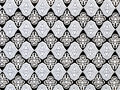 Damask seamless pattern black-white Stock Photos