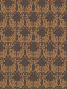 Damask seamless pattern a classic repeating in shades of brown Stock Images