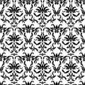 Damask seamless pattern. Ornate floral design in royal baroque
