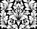 Damask seamless pattern with retro floral elements Stock Image