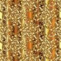 Gold Damask seamless pattern.