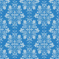 Damask seamless pattern vintage texture wallpaper background Stock Photos