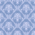 Damask seamless retro Wallpaper - Ornament with bouquet of Flowers. Royalty Free Stock Photo