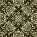 Damask seamless vector flower wallpaper