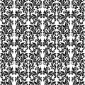 Damask Seamless Vector Pattern in Black and White colors. Elegan