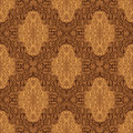 Damask seamless wallpaper beige and brown design on a picture is presented Stock Photo