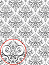 Damask Style Pattern Stock Photos