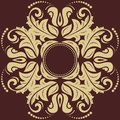 Damask vector pattern orient golden ornament floral with arabesque and oriental elements abstract traditional for backgrounds Stock Images