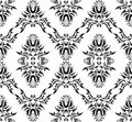 Damask (Victorian) seamless pattern Stock Photography
