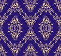 Damask (Victorian) seamless pattern Royalty Free Stock Image