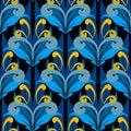 Damask vintage colorful vector seamless pattern. Elegance orname