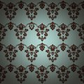 Damask vintage floral seamless pattern background