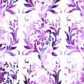 Damask watercolor pattern