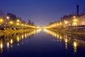 Dambovita river, Bucharest Royalty Free Stock Photo