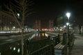 Dambovita river by night Royalty Free Stock Photo