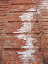 Damp moisture damage caused by and on a wall Royalty Free Stock Photography