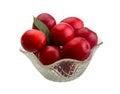 Damson plum isolated on white background Stock Images