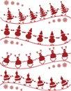 Dança do Natal Fotografia de Stock Royalty Free