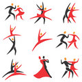 Dance_ballet_icons Stock Photography