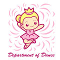 Dance department Mascot. Education and life Character Design ser Royalty Free Stock Photo