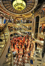 Dance event inside cruise ship crown princess Royalty Free Stock Photo