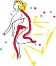 Dance explosion girl Royalty Free Stock Photo