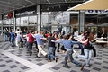 Dance flash mob beer sheva israel december youth in a shopping center Stock Image