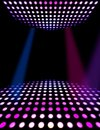 Dance floor disco poster background Royalty Free Stock Image