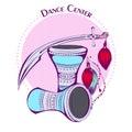 Dance line color tribal accessories