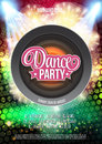 Dance Party Night Poster Background Template - Vector Illustration Royalty Free Stock Photo