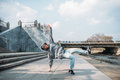 Dance performer, hip hop dancing  on the street Royalty Free Stock Photo