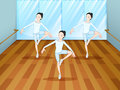 A dance rehearsal inside the studio illustration of Royalty Free Stock Photo