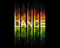Dance text backround Royalty Free Stock Image