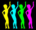 Dance women Royalty Free Stock Photos