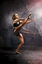 Dancer attractive young dancing modern dance Stock Images