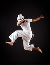 Dancer dancing dances white clothing Royalty Free Stock Images