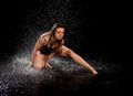 Dancer expression water Royalty Free Stock Photo