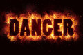 Dancer fire flames burn text explosion explode Royalty Free Stock Photo