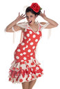 A dancer flamenco with a typical andalusian costume southern spain Stock Photography