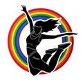 Dancer, Hip hop, Street Dance, B Boy, Dance action graphic vector Royalty Free Stock Photo