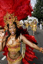 A Dancer from the Paraiso School of Samba float Royalty Free Stock Images