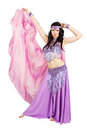 Dancer with scarf beautiful in eastern costume Stock Photo