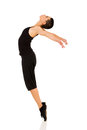 Dancer standing toes energetic female on Stock Image