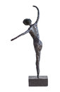 Dancer statue paverpol isolated on white background Stock Photography